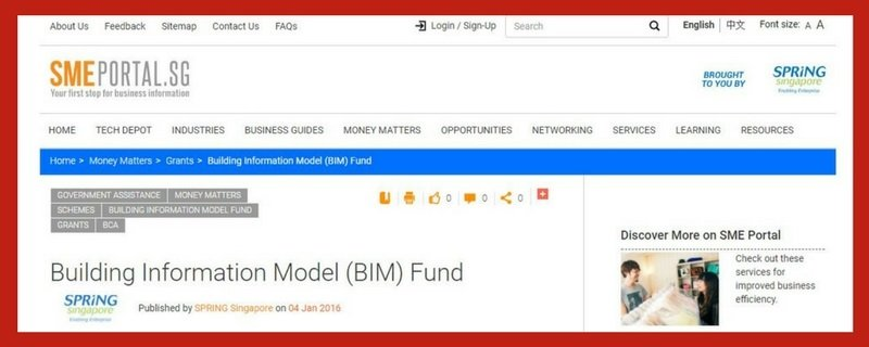 building-information-model-fund 13 Startup Schemes and Grants in Singapore