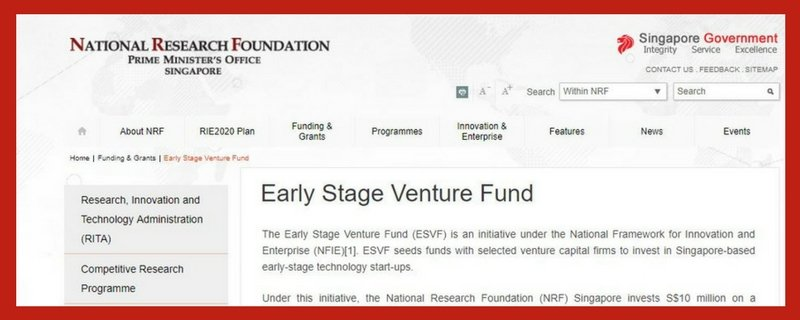 early-stage-venture-fund 13 Startup Schemes and Grants in Singapore